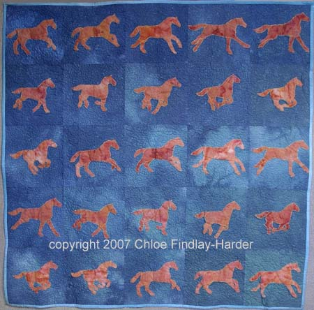 two and a half strides original art quilt by chloe findlay-harder