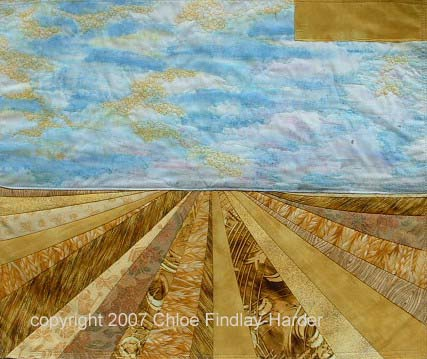 prairie sky original art quilt by chloe findlay-harder